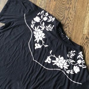 GUC Zara western floral detail cotton T-shirt